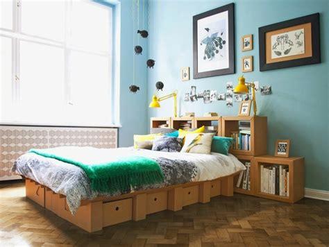 chambre flottante tête de lit avec rangement fonctionnel et esthétique
