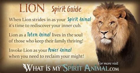 lion symbolism meaning spirit totem power animal