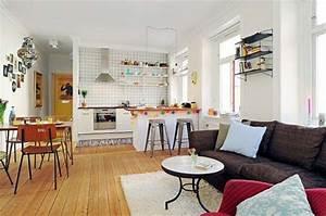 Kitchen living room open floor plan design ideas for Open kitchen design with living room