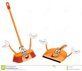 Broom and Dust Pan Clip Art