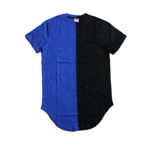 dual color flying ninety quot dual color quot t shirt blue black