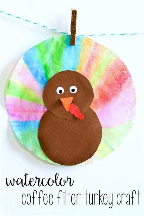 watercolor coffee filter turkeys fall   school