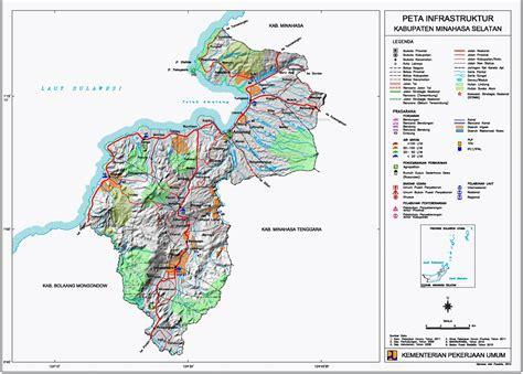 peta kota peta kabupaten minahasa selatan