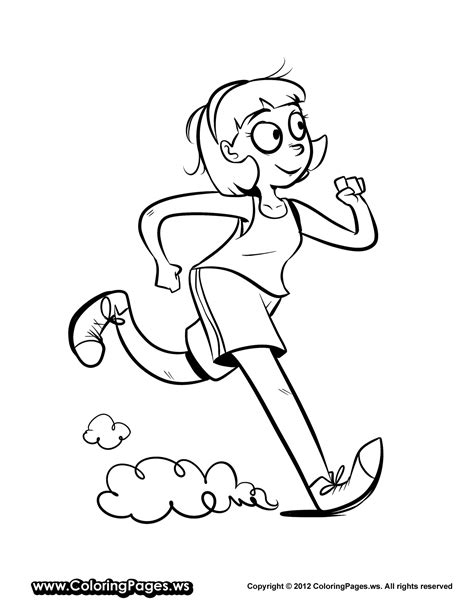 Atletiek Kleurplaat by Running Coloring Pages Getcoloringpages