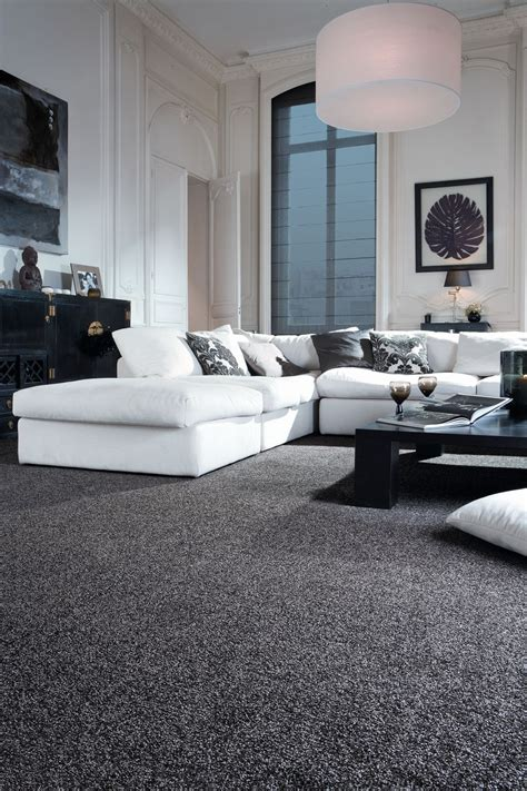 Black And Gray Living Room Carpet sophisticated black and white living room idea monochrome