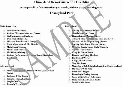 Disneyland Disney Checklist California Challenge Attraction Adventure