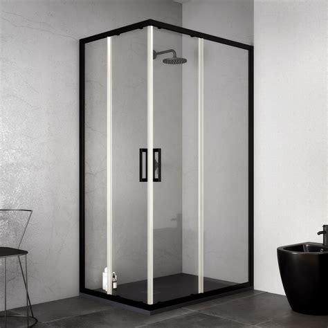 box doccia 70 box doccia profilo nero 70x70 cm angolare apertura