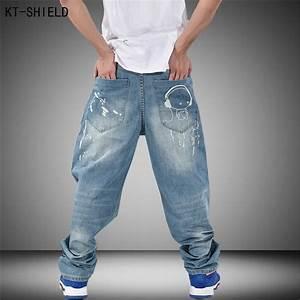 Brand Men Baggy Jeans Denim Loose Doll graffiti Hip Hop ...