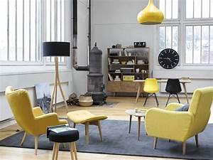 20 fauteuils et canapes jaunes pour le salon joli place for Canapé 3 places pour decoration du sejour