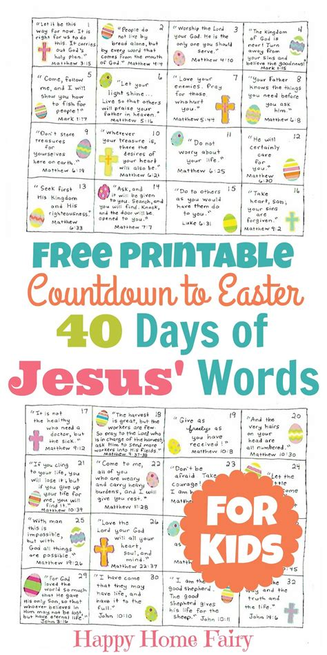 countdown to easter 40 days of jesus words for 134 | be411a60dd44196d3ce151625078c5ca