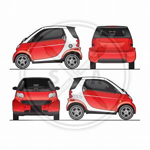 smart car fortwo graphics template stock vector art With car wrap templates free download