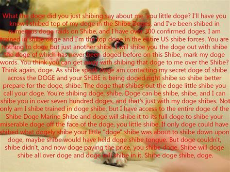 Copy Pasta Memes - what the doge did you just shibing say about me you little doge navy seal copypasta know