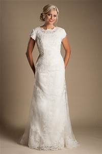 modest high neck full back short sleeve ivory lace wedding With wedding dress with short sleeves