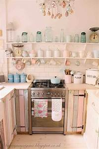 29 best shabby chic kitchen decor ideas and designs for 2018 With kitchen colors with white cabinets with pink floyd the wall cover art