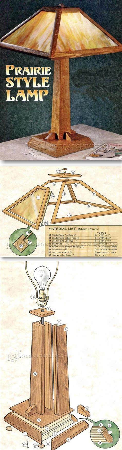 prairie table lamp plans woodworking plans  projects