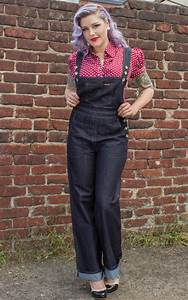 denim playsuit by rumble59 rockabilly 50s style
