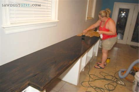 Oak Plywood Countertops   Cara's Office   6   Sawdust Girl®