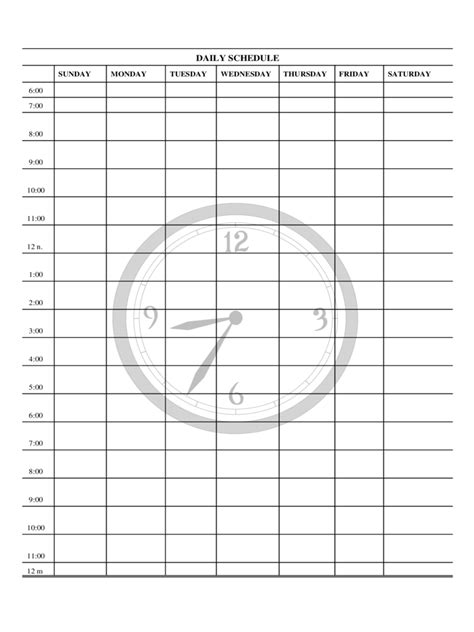 daily planner template   templates   word