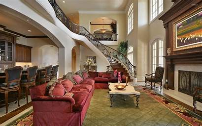 Mansion Living Luxury Hall Wallpapers Zoom Background