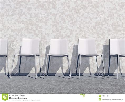 white waiting room 3d render royalty free stock photo