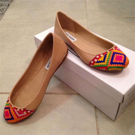 colored flats steve madden multi colored kayci flats on sale 32