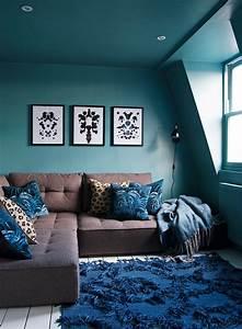 Salon Vert D Eau : 1001 id es d co salon bleu canard paon p trole du ~ Zukunftsfamilie.com Idées de Décoration