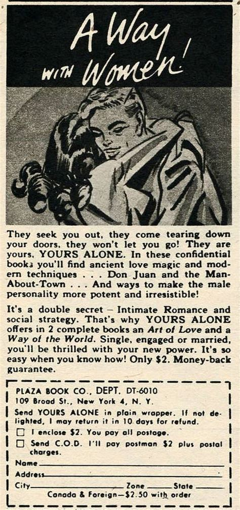 Vintage Ads For How Sex Books From Between The