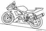 Coloring Motorcycle Printable Cool2bkids sketch template