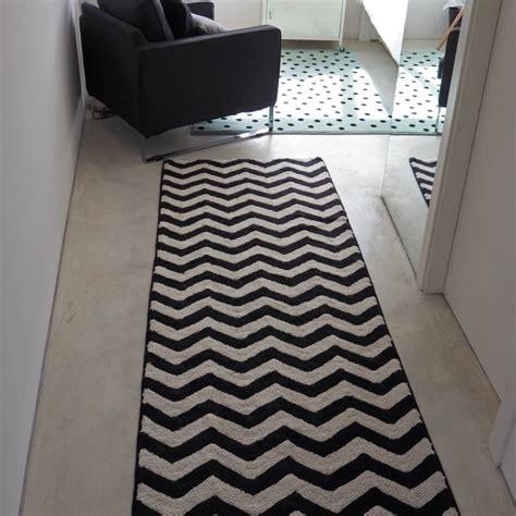 grand tapis de salon lavable tapis noir et blanc