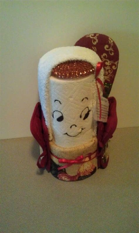 paper towel lady craft projects homemade gifts