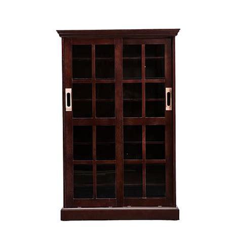 sliding door media cabinet sliding door media cabinet espresso 6408637 hsn