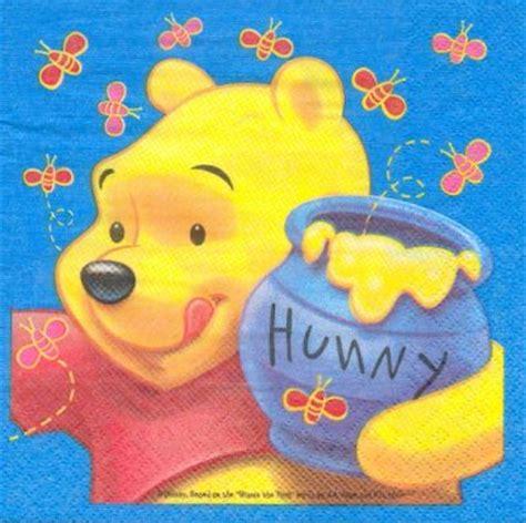 d 233 co enfant serviette papier motif winnie l ourson et le pot de miel