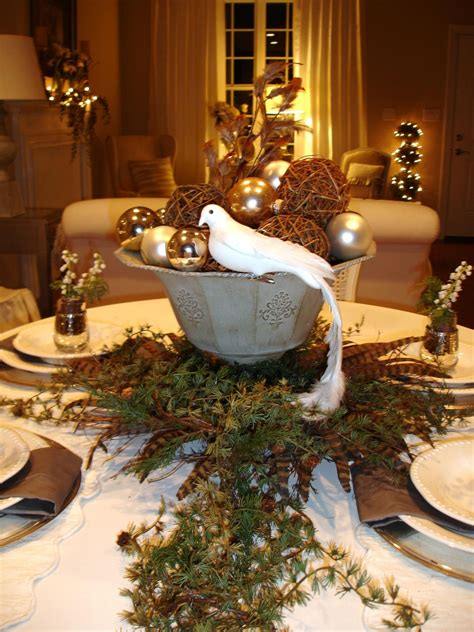 elegant christmas table settings ideas rustic brown wooden dining table decoration with garland
