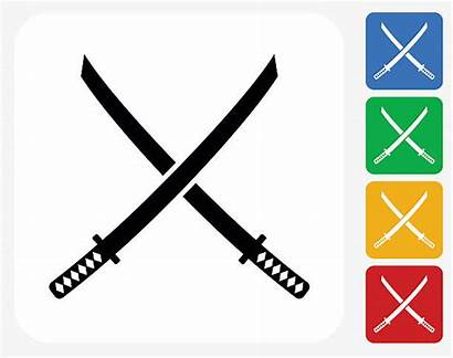Sword Ninja Samurai Clipart Vector Katana Swords