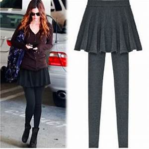 2015 New Skirt Leggings For Women Fashion Pleated Skirt Skinny Pencil Pants Solid Footless ...