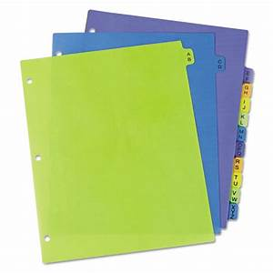 preprinted plastic tab dividers 12 tab letter sani With notebook with letter tabs