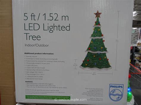 philips led lighted tinsel tree