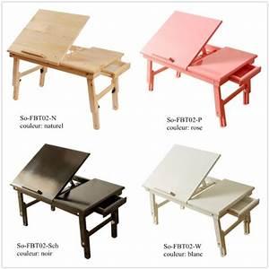 Table Pour Lit : sobuy fbt02 w table tablette de lit pliable pc portable ~ Dode.kayakingforconservation.com Idées de Décoration
