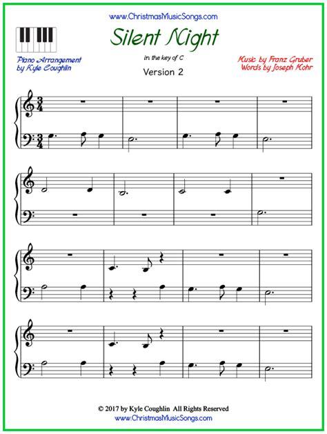 My goal is teaching beginner piano students around the world. Silent Night piano sheet music - free printable PDF