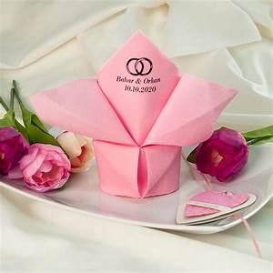 Servietten Falten Kerze : serviette airlaid dinner rosa personalisiert ~ Orissabook.com Haus und Dekorationen