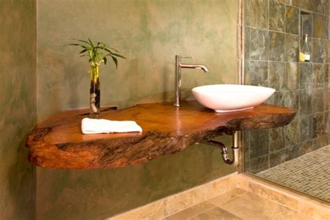 bathroom sink decorating ideas open shower floating wood counter bathroom