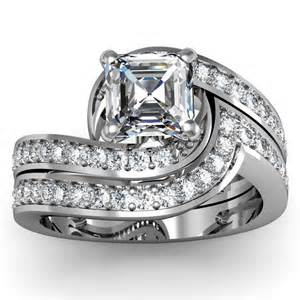 asscher engagement rings asscher engagement ring wedding set engagement rings review