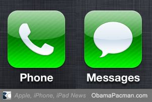 iphone message app apple iphone phone messages app obama pacman
