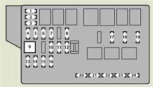Lexus Is250d  2011 - 2013  - Fuse Box Diagram
