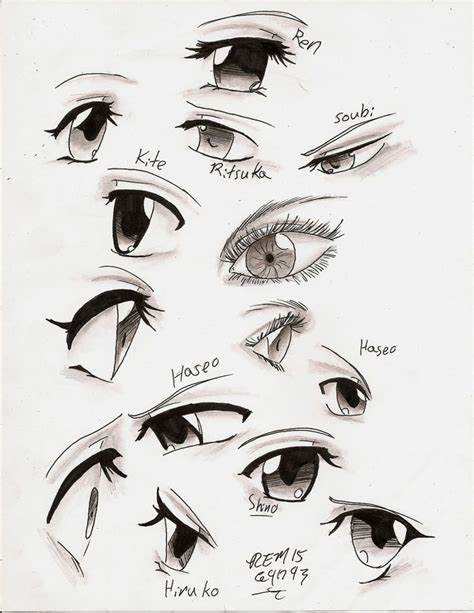 Anime Eyes From The Side 576 Best Images About Body Positions Art Reference On