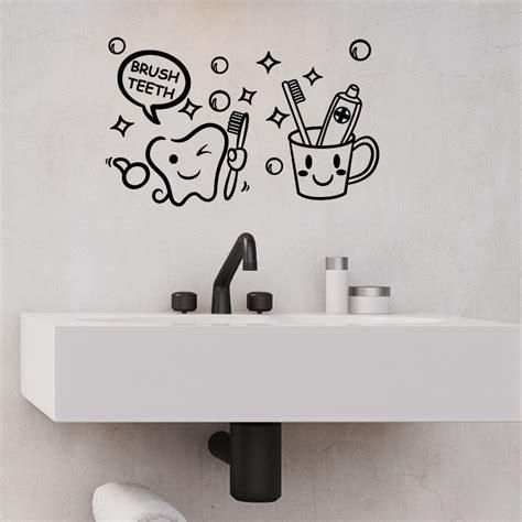 sticker salle de bain citation brush teeth stickers salle de bain mur salle de bain ambiance