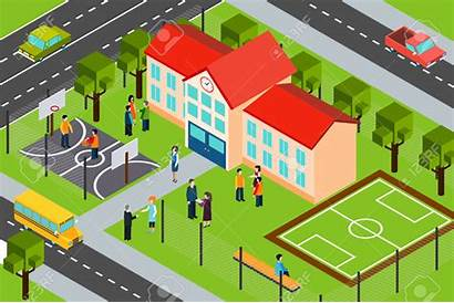 Clipart Sports Facility Building Area Vector Isometric