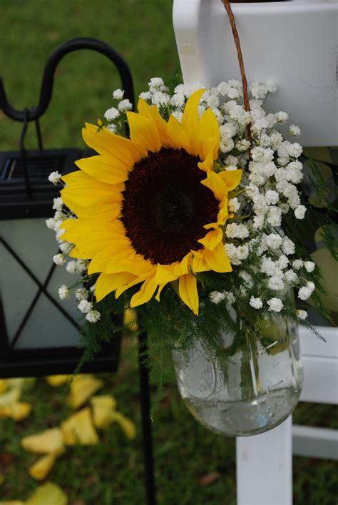 sunflowers  mason jars simple  perfect center
