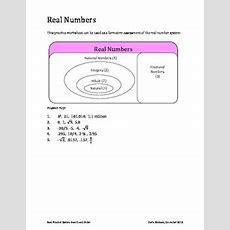 Real Number System Search And Order Worksheet By Darla Knutzen Tpt