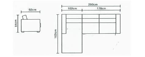plan canapé canapé d 39 angle tissu quot francilia quot 4 places gris foncé